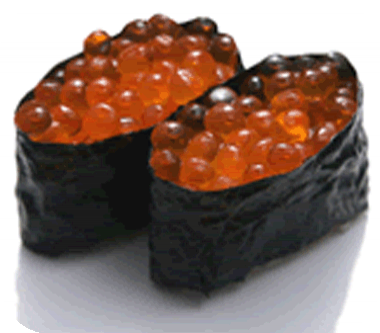 Sushis aux oeufs de saumon Sushi-oeuf-saumon